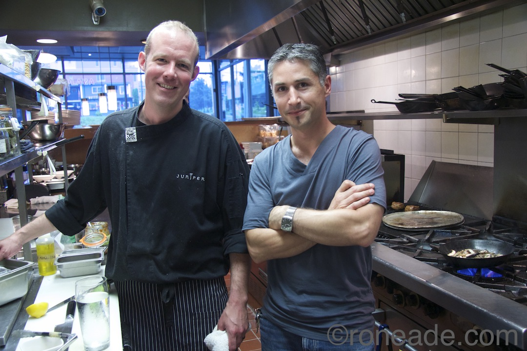 Left, chefs and Juniper owners Peter Robblee, Norm Aitken