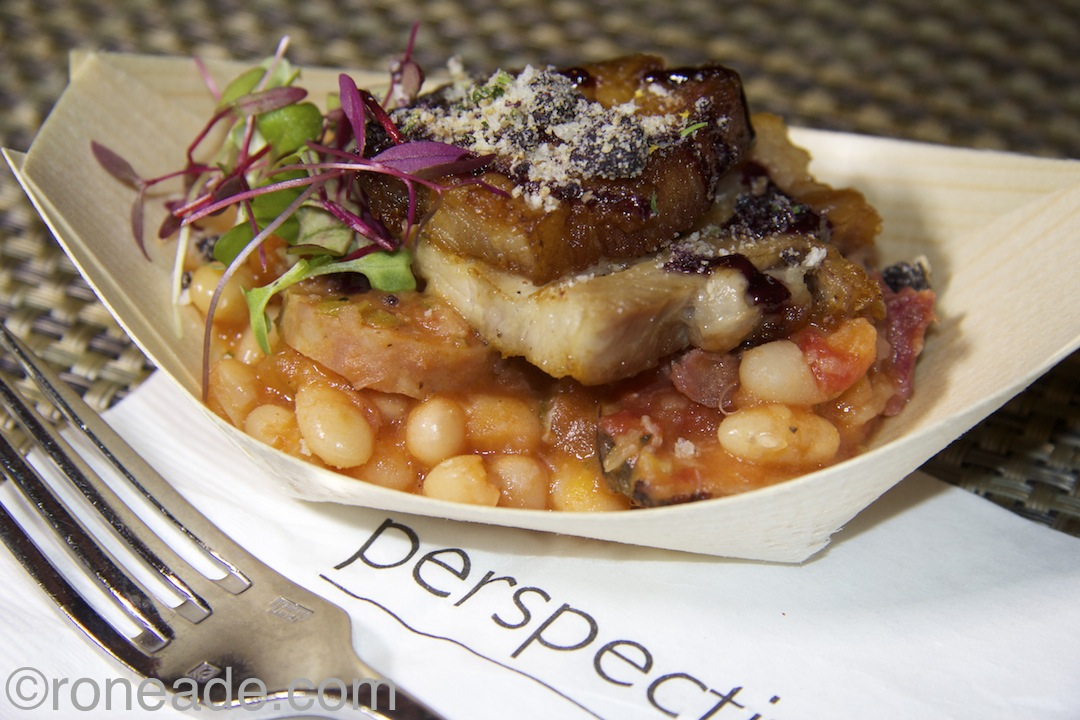 "Delta Ottawa chef Mark Steele, also a guest at Lumiere, selected this canellini bean and maple cassoulet with rich pork belly, bacon as one of his favourites. ""The pork was well braised but crispy on the outside, while the cassoulet had nice flavour,"" Steele says."