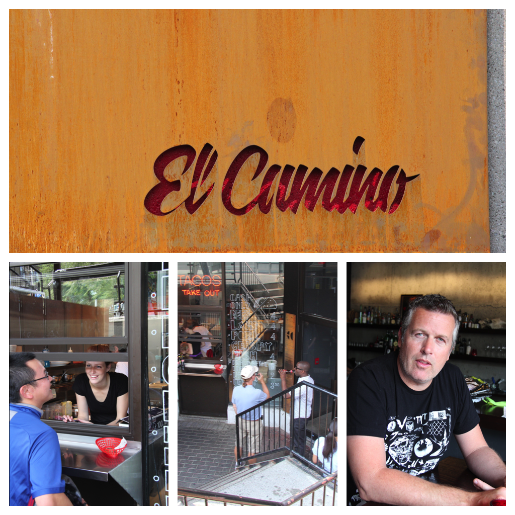 el Camino on Elgin Street ... Bottom left, always a popular takeout window. Right, chef/owner Matt Carmichael