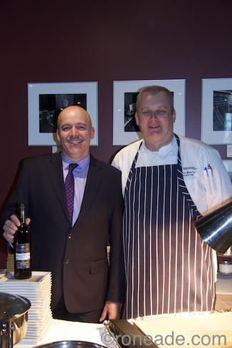 Left, NAC general manager Nelson Borges (himself a trained and professional chef) with NAC executive chef John Morris, at the official pre-launch of Ontario Scene yesterday at the performing arts centre